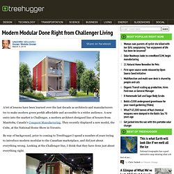 Modern Modular Done Right from Challenger Living