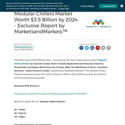 Modular Chillers Market Worth $3.5 Billion by 2024
