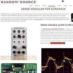 Serge Modular for Eurorack (3U) by Random*Source