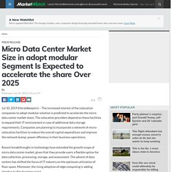 Micro Data Center Market Size in adopt modular Segment Is Expected to accelerate the share Over 2025