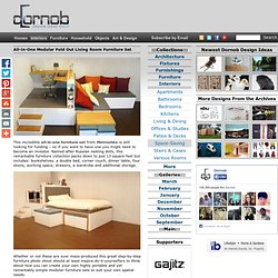 All-in-One Modular Fold Out Living Room Furniture Set | Designs &Ideas on Dornob - StumbleUpon