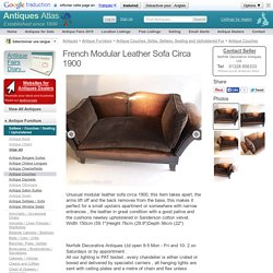 French Modular Leather Sofa Circa 1900 - Antiques Atlas