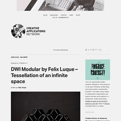 DWI Modular by Felix Luque - Tessellation of an infinite space