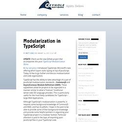 Modularization in TypeScript