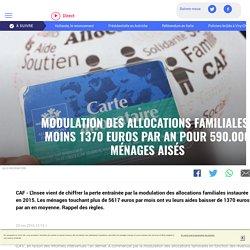 Modulation des allocations familiales : moins 1370 euros par an pour 590.000 ménages aisés - LCI