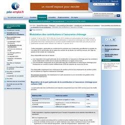Modulation des contributions à l'assurance chômage