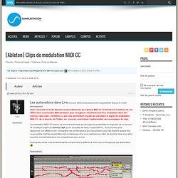 [Ableton] Clips de modulation MIDI CC - Samplestation