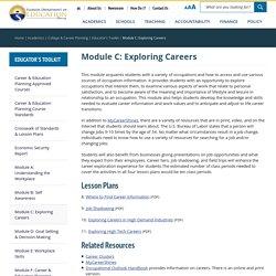 Module C: Exploring Careers