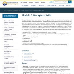 Module E: Workplace Skills