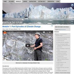 Module 1: Past Episodes of Climate Change