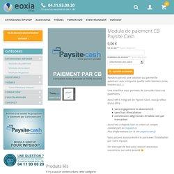 Module de paiement CB Paysite Cash