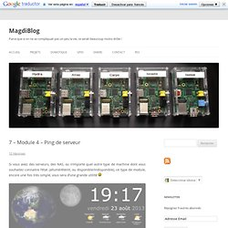 7 – Module 4 – Ping de serveur