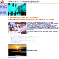 Delta Module One preparation course on ELT Concourse: index