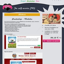 Module Prestashop de billetterie