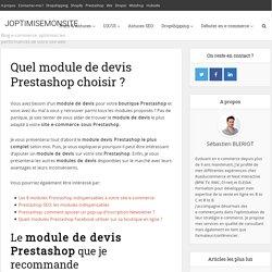 Quel module de devis Prestashop choisir ?