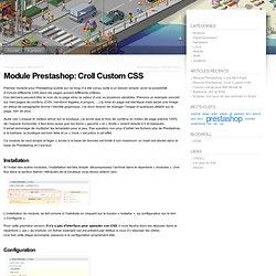 Module Prestashop: Croll Custom CSS « beve