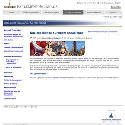 Module de simulation du Parlement