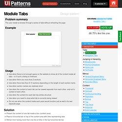 Module Tabs design pattern