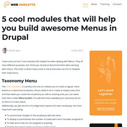 5 modules that will help you build awesome Menus | My Drupal Experience