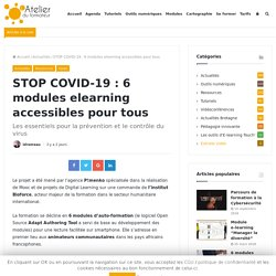 STOP COVID-19 : 6 modules elearning accessibles pour tous