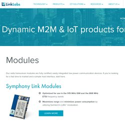 M2M & IoT Modules, Gateways & Products By Link Labs
