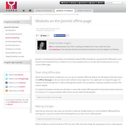 Modules on the Joomla! offline page
