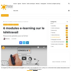 5 modules e-learning sur le télétravail