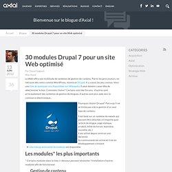 30 modules Drupal 7