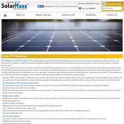 Solar PV Modules, Photovoltaic Solar Modules India from SolarMaxx