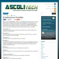 10 moduli gratis per PrestaShop - AscoliTech