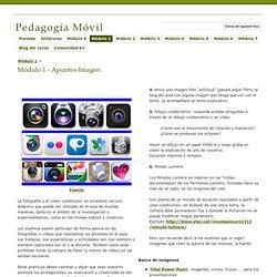 Módulo 1 - Apuntes - Pedagogía Móvil