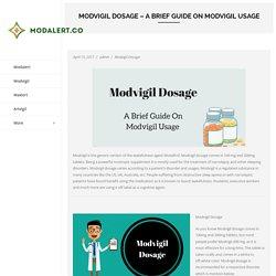 Modafinil - Modalert.co