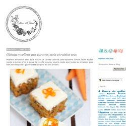 Gâteau moelleux aux carottes, noix et raisins secs