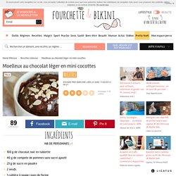 Recette de Moelleux au chocolat léger en mini cocottes
