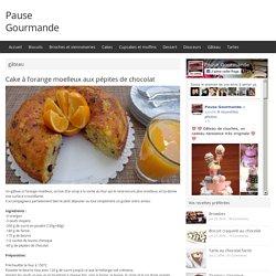 Cake à l'orange moelleux aux pépites de chocolat