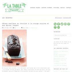 Gâteau moelleux au chocolat à la courge sucrine et aux épices (vegan)