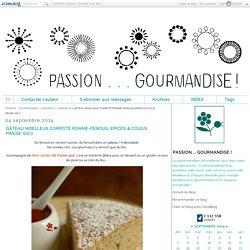 GÂTEAU MOELLEUX COMPOTE POMME-FENOUIL-EPICES & COULIS FRAISE-GOJI