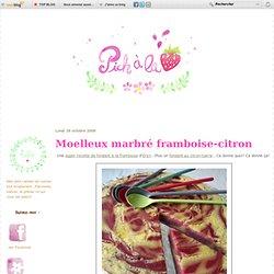 Moelleux marbré framboise-citron