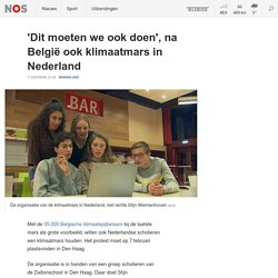 NOS - 'Dit moeten we ook doen', na België ook klimaatmars in Nederland