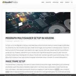 Mograph Multishader Setup in Houdini