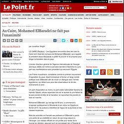 Au Caire, Mohamed ElBaradeï ne fait pas l'unanimité, actualité Reuters : Le Point