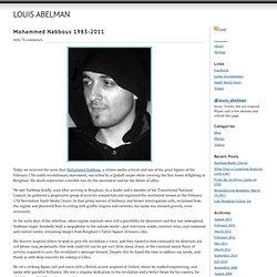 Mohammed Nabbous 1983-2011 « Louis Abelman