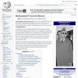 Sidi Mohammed ben Youssef, Mohammed V 1909-1961