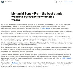Mohanlal Sons – From the best ethnic wears to everyday comfortable wears — Teletype