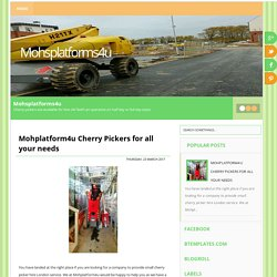 Mohplatform4u Cherry Pickers for all your needs