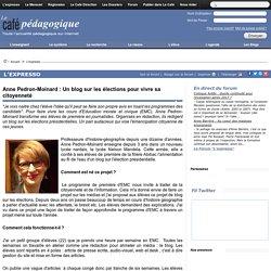 Anne Pedron-Moinard : Un blog sur les élections pour vivre sa citoyenneté