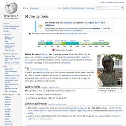 Rabbin Moïse de León wikipedia