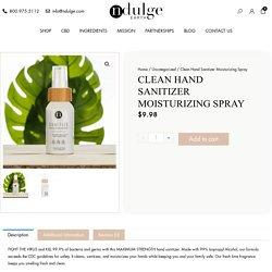 Sanitize Moisturizing CBD Hand Spray