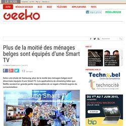 Plus de la moitié des ménages belges sont équipés d'une Smart TV
