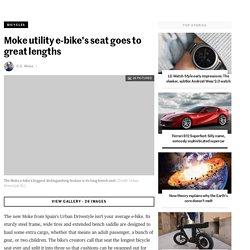 Moke utility e-bike's seat goes to great lengths